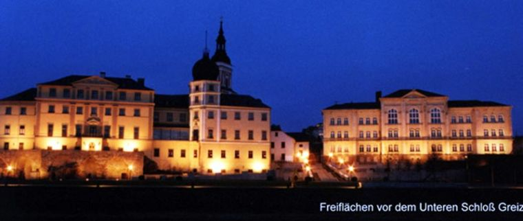 Unteres Schloss und Gymnasium Greiz Freiflächengestaltung