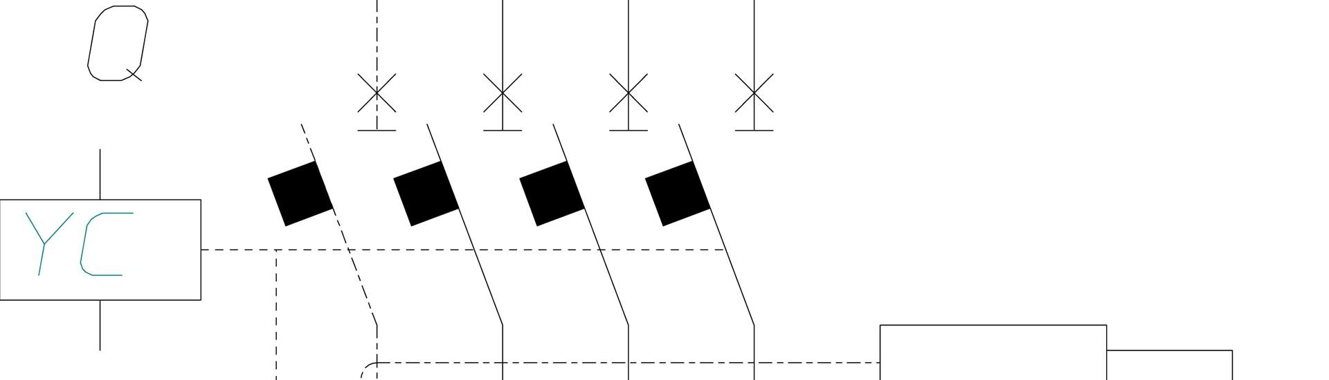 Plan eines Magnetantriebs
