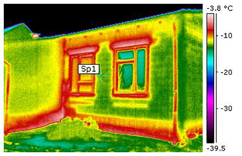 Auffinden von Kältebrücken an Gebäuden